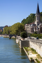 Saone river to Lyone, France