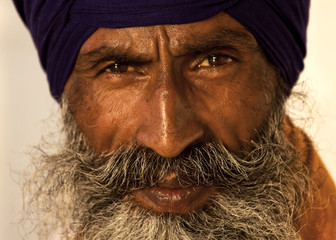 Sikh man in Amritsar, India.