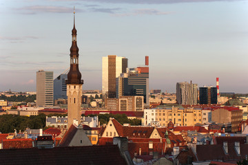 View of the Old Town in Tallinn