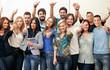 Leinwanddruck Bild - Group of students