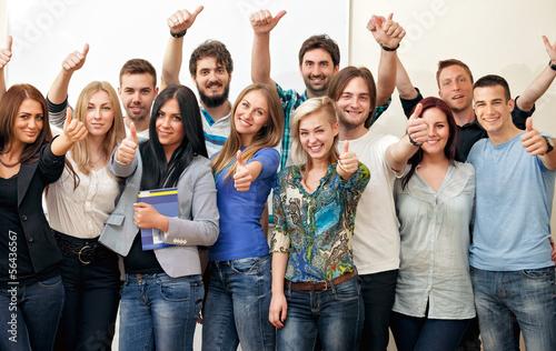 Leinwanddruck Bild Group of students
