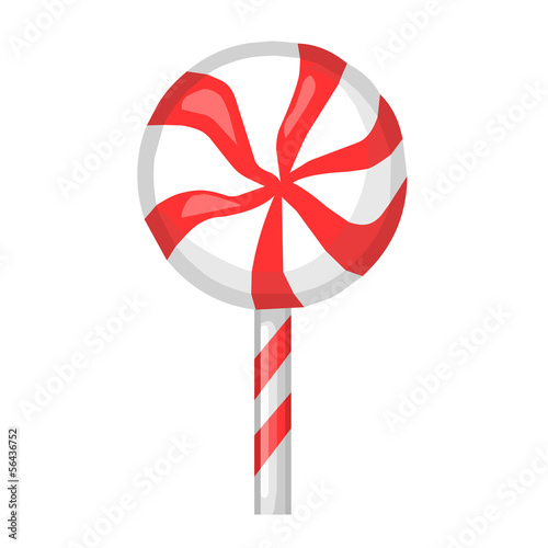 Striped candy isolated illustration