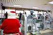 Santa at gym
