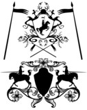 knights heraldic design elements