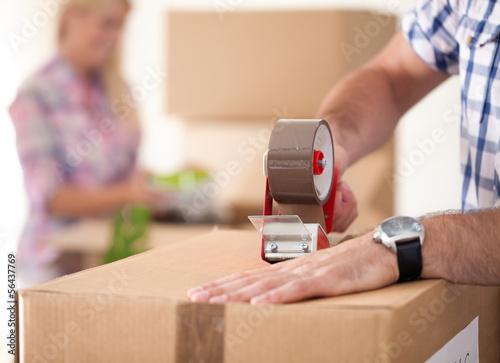 Leinwanddruck Bild Moving house