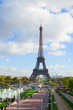 eiffel tour and fountains of Trocadero