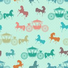 texture transparente avec les chevaux avec chariot
