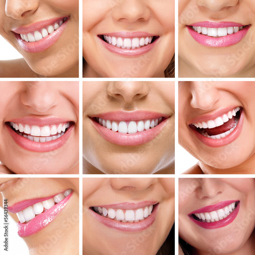 teeth collage of people smiles