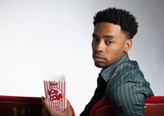 Attractive afro-american man posing in studio