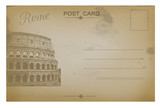 Vintage postcard with Colosseum