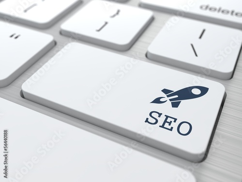 White Keyboard with SEO Button.