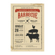 Vintage barbecue invitation card on old grunge paper - 56440740