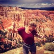 woman dancing in bryce canyon