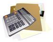 Business calculator. Vector.