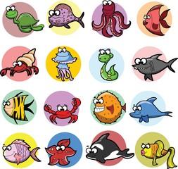 Набор мультфильм рыбы