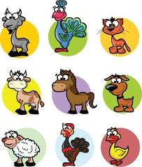 Набор мультфильм вектор Ферма животных
