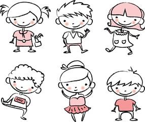 Симпатичные счастливые дети