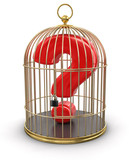 Gold Cage with Quest (clipping path included)