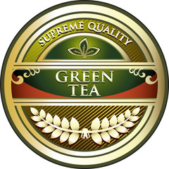 Green Tea Vintage Label