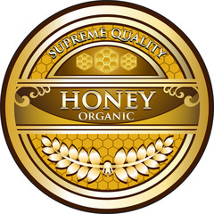 Honey Organic Vintage Label