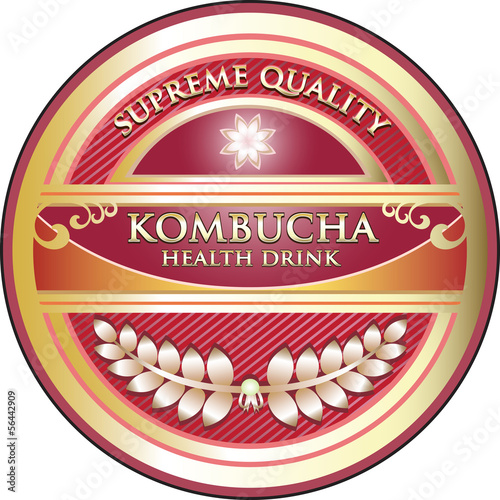 Kombucha Health Drink Label