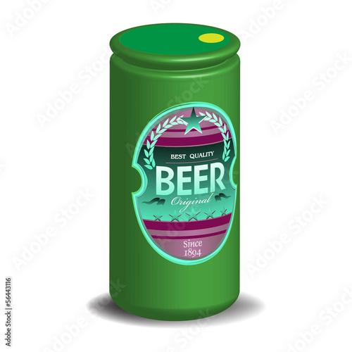 Green beer can