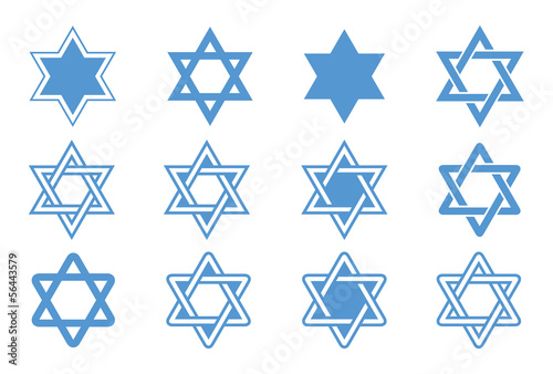 Star of David. Vector illustration.
