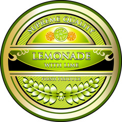 Lemonade With Lime Vintage Label