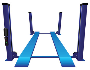 Car lift four rack