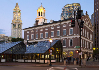 Faneuil Hall in Boston, Massachusetts, USA.