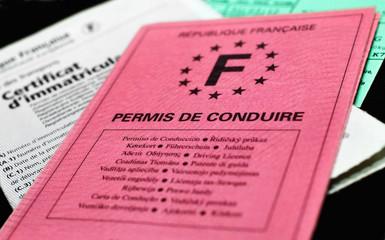 permis de conduire,papier rose,identité