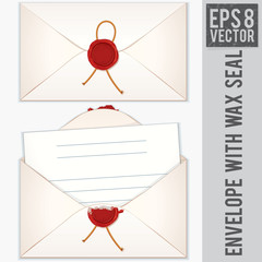 Envelope with Blank Letter