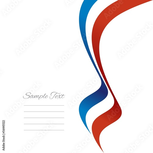 French right ribbon vector
