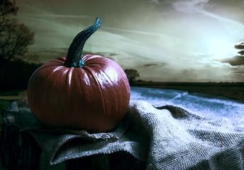 Pumpkin At Sunset