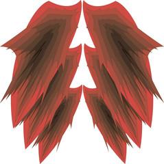 иллюстрация крылья дракона на белом фоне