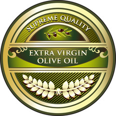 Extra Virgin Olive Oil Vintage Label