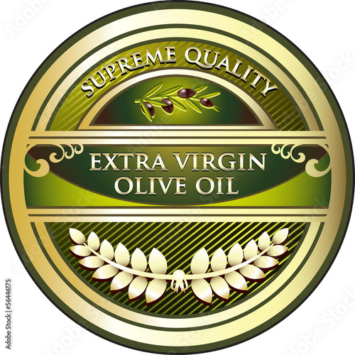 Extra Virgin Olive Oil Vintage Label