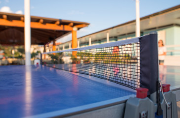 Ping Pong Net - Table on the beach