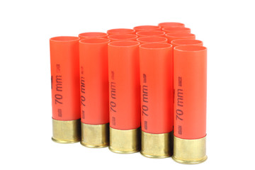 red casings from a shotgun