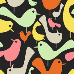 vector seamless birds wallpaper