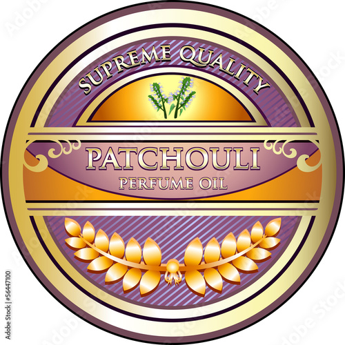 Patchouli Perfume Oil Vintage Label