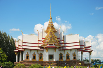 temple with sky and clouds,Thailand