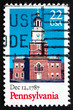 Postage stamp USA 1987 Pennsylvania, Ratification of the Constit