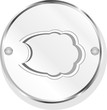 Metallic speech bubble icon