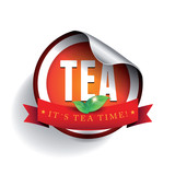 Tea label vector sticker