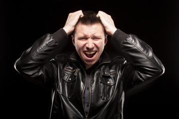 Rage - scream of angry man