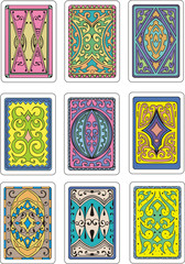 backs of playing cards