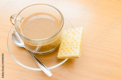 hot Coffee and biscuit in the morning time