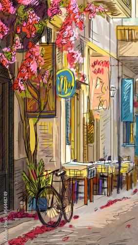 ulica-w-roma-ilustracja