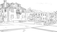 Kroatien Stadtstraße - Illustration